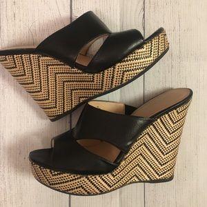 """Size 9 Nine West 5.5"""" Platform Wedge Sandals"""